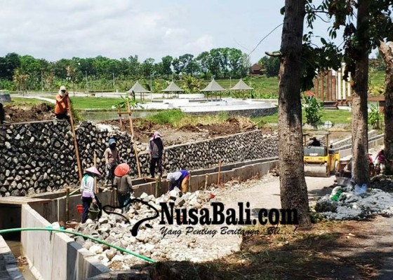 Nusabali.com - atasi-banjir-jalan-depan-acjn-rambut-siwi-direkonstruksi