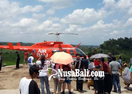 Nusabali.com - untuk-layanan-vvip-disiapkan-helipad-di-tengah-subak-jatiluwih