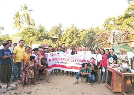 Nusabali.com - mahasiswa-hindu-sambangi-korban-gempa