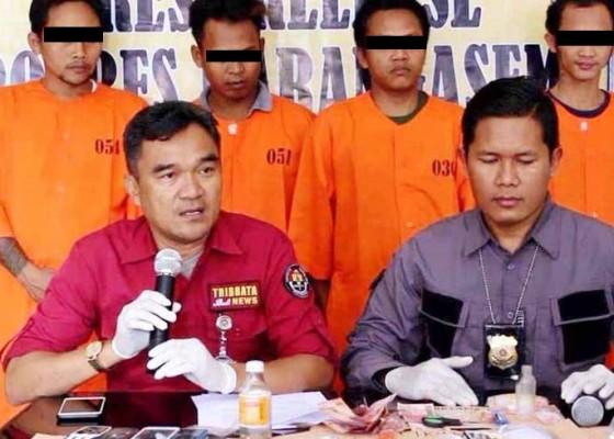 Nusabali.com - simpan-narkoba-4-pria-diringkus-di-karangasem
