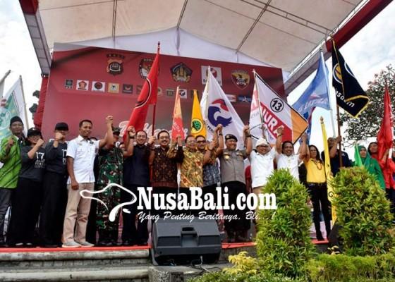 Nusabali.com - parpol-dan-para-caleg-deklarasi-pemilu-damai