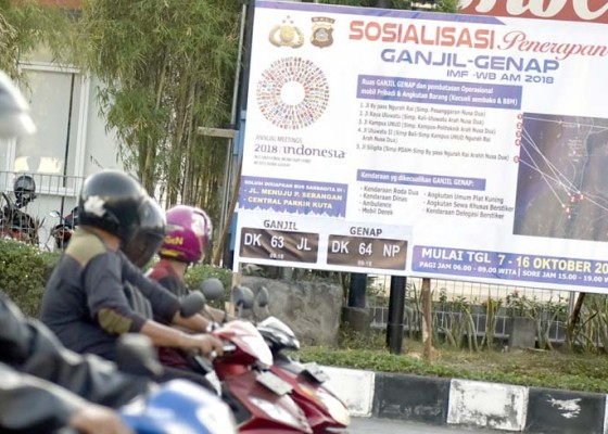 Nusabali.com - sosialisasi-ganjil-genap