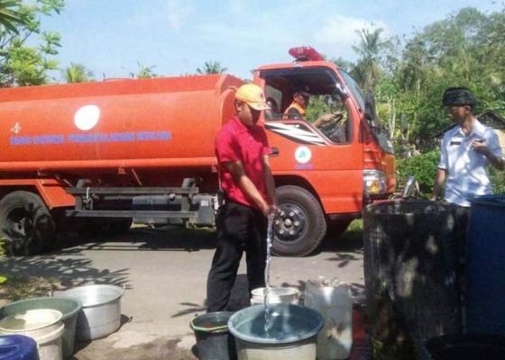 Nusabali.com - bpbd-salurkan-air-bersih-ke-katulampa
