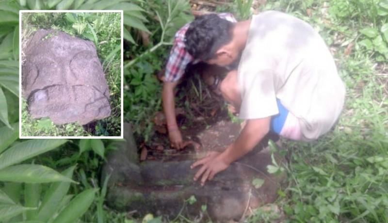 www.nusabali.com-ditemukan-batu-diduga-sarkofagus-di-hutan