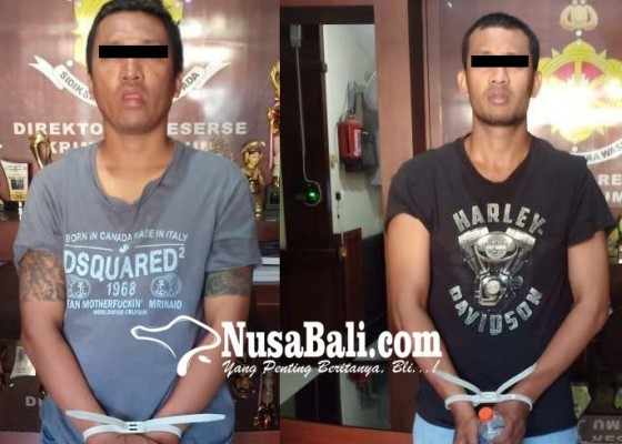 Nusabali.com - tantang-polisi-dua-anggota-ormas-dijuk