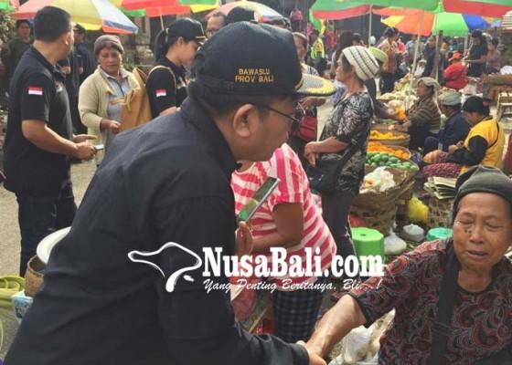 Nusabali.com - sasar-pemilih-di-pasar-bangli