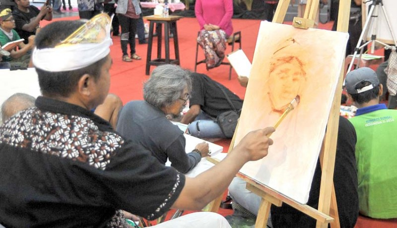 www.nusabali.com-melukis-bersama-khofifah-indar-parawansa