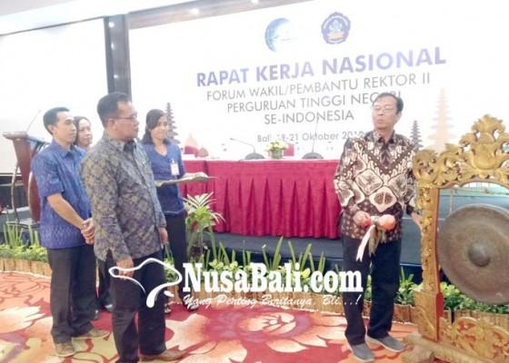 Nusabali.com - forum-wakil-rektor-ii-ptn-gelar-rakernas-di-kuta