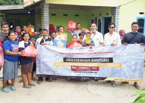 Nusabali.com - kmhdi-salurkan-bantuan-ke-sulteng