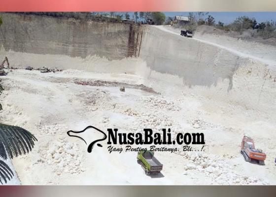 Nusabali.com - belum-kantongi-izin-galian-di-kutuh-dihentikan-sementara