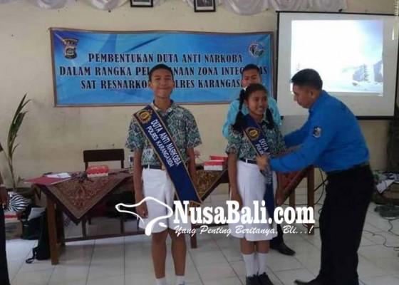 Nusabali.com - siswa-smpn-1-manggis-jadi-duta-anti-narkoba