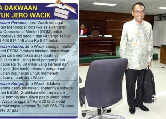 Nusabali.com - jero-wacik-dikenai-tiga-dakwaan-biaya-ultah-istri-pun-hasil-urunan-pejabat-kementerian