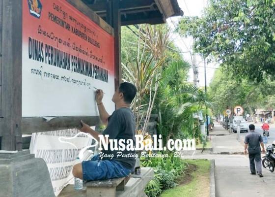 Nusabali.com - wajah-baru-instansi-dengan-aksara-bali