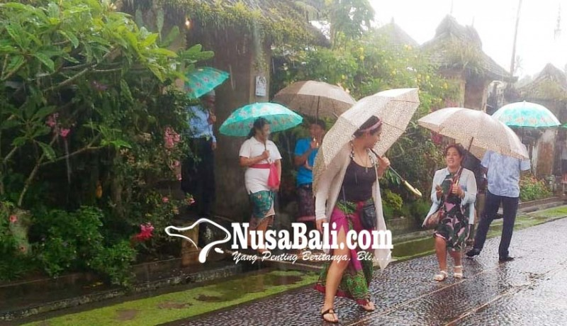 www.nusabali.com-warga-penglipuran-sewakan-payung-ke-wisatawan