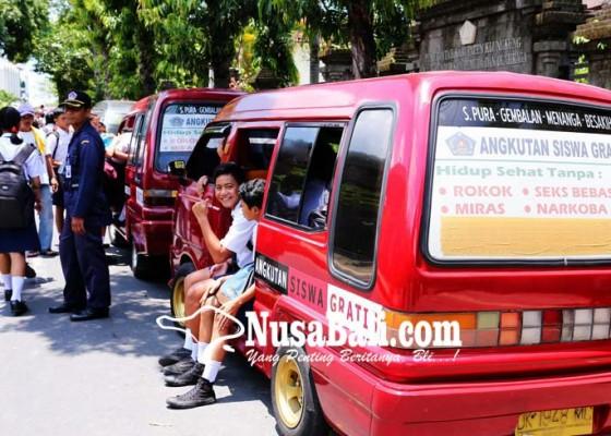 Nusabali.com - pelayanan-angkutan-siswa-gratis-berhenti-29-november-2018