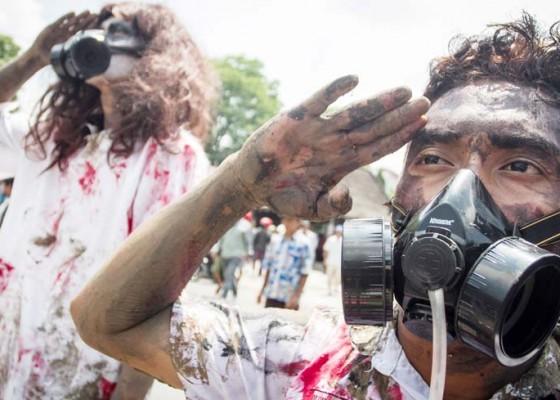 Nusabali.com - aksi-menolak-pencemaran-limbah-pabrik