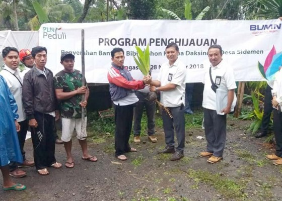 Nusabali.com - pt-pln-up3-bali-timur-gelar-program-penghijauan