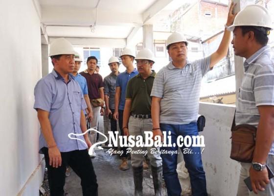 Nusabali.com - proyek-blok-a-pasar-semarapura-baru-83-persen