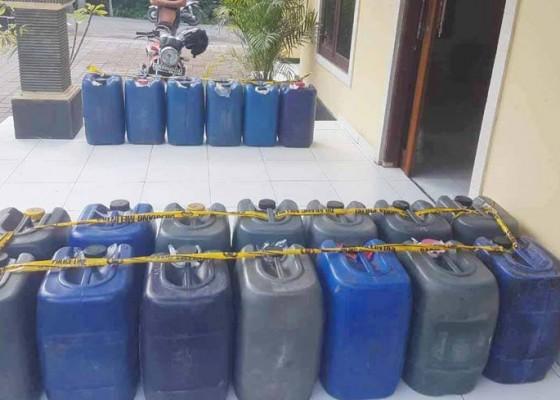 Nusabali.com - pick-up-dicegat-630-liter-arak-diamankan
