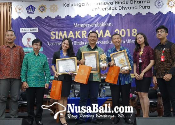 Nusabali.com - universitas-dhyana-pura-pupuk-karakter-generasi-muda-hindu-di-era-milenial-melalui-simakrama-2018