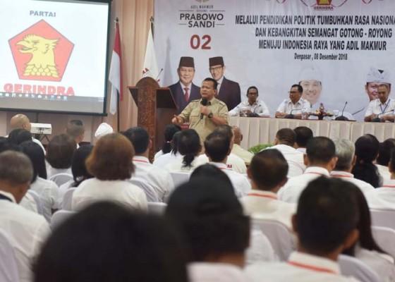 Nusabali.com - gerindra-bali-gembleng-500-kader-hadapi-pileg-2019