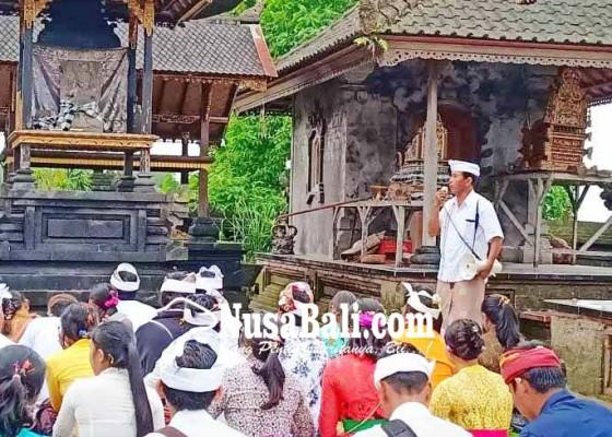 Nusabali.com - penelitian-di-besakih-mahasiswa-stikip-kehujanan