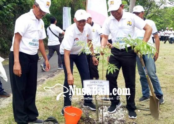 Nusabali.com - kementerian-pupr-tanam-400-pohon-di-pura-pekendungan