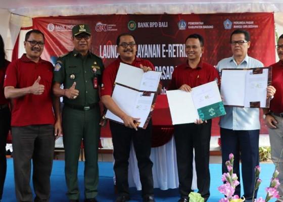 Nusabali.com - pasar-hewan-beringkit-terapkan-e-retribusi