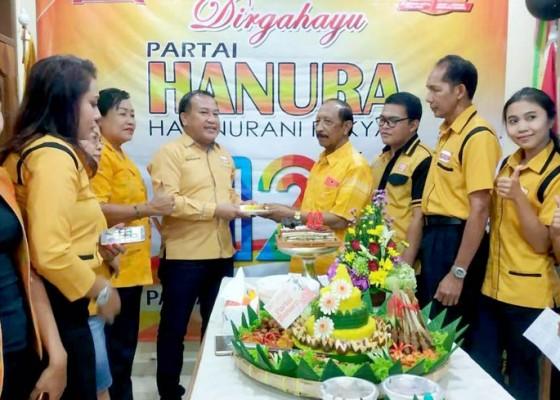 Nusabali.com - rayakan-hut-hanura-ngebet-dua-besar-di-bali