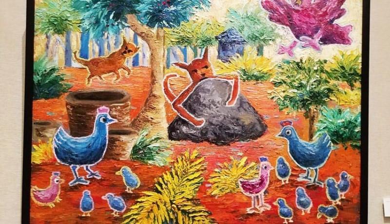 www.nusabali.com-delapan-seniman-gelar-pameran-lukisan-happy-ending