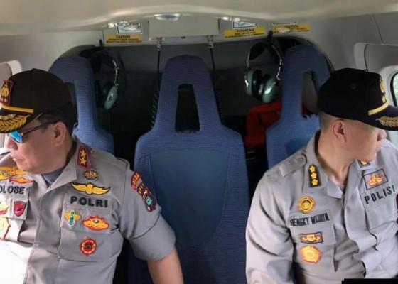 Nusabali.com - pantau-keamanan-bali-kapolda-patroli-udara