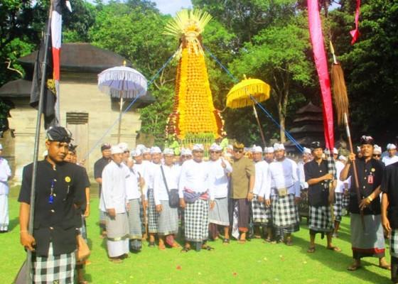 Nusabali.com - tumpek-kandang-desa-pakraman-kukuh-ngrebeg-gebogan-buah