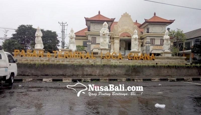 www.nusabali.com-pasar-loka-crana-belum-terisi-papan-nama-bali