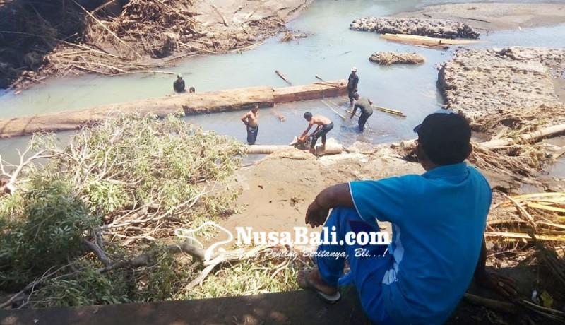 www.nusabali.com-kayu-sisa-banjir-bandang-dimanfaatkan-untuk-membantu-warga-terdampak