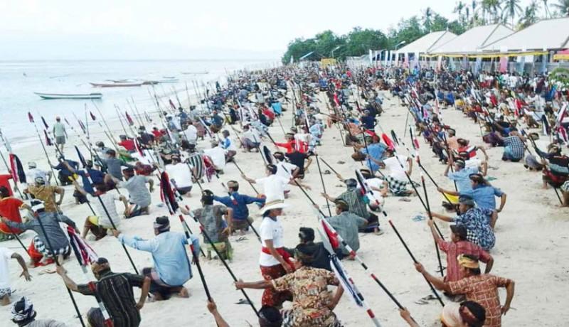 www.nusabali.com-klungkung-pertajam-penari-baris-jangkang