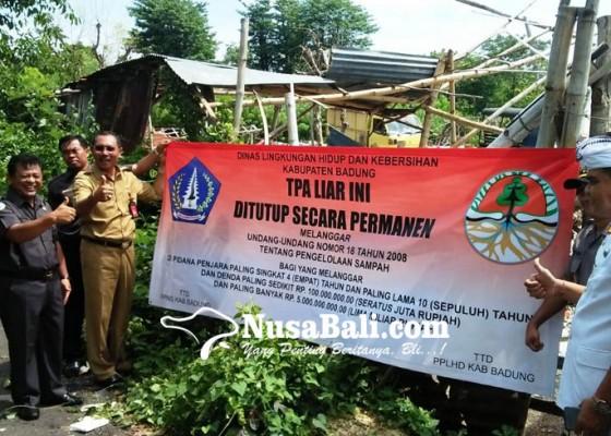 Nusabali.com - dinas-lhk-segel-tps-ilegal-di-jimbaran