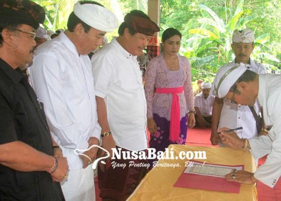 Nusabali.com - bendesa-dharma-laksana-terpilih-dikukuhkan