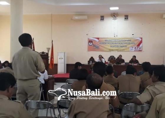 Nusabali.com - rekrut-6132-kpps-kpu-jembrana-kumpulkan-perbekel