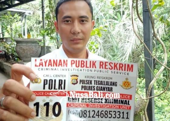 Nusabali.com - polsek-tegallalang-sebar-stiker-kring-reskrim