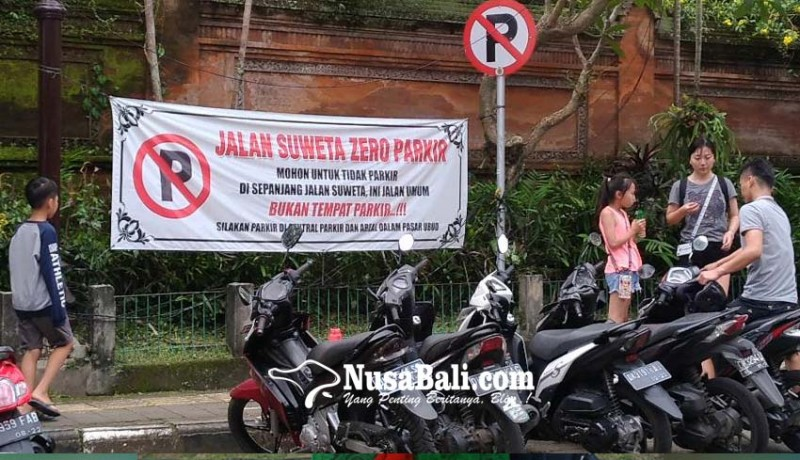 www.nusabali.com-dishub-diminta-kaji-rambu-larangan-parkir-motor-di-ubud