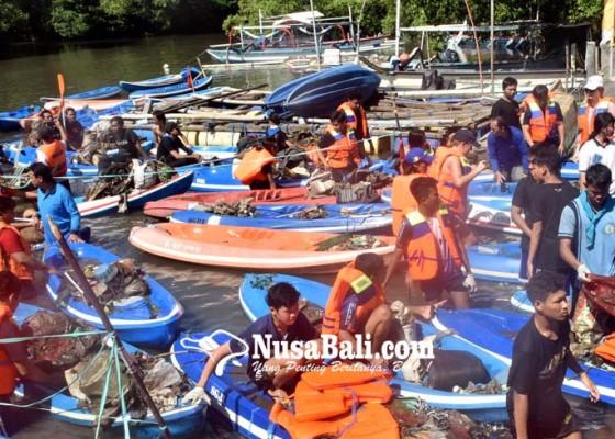Nusabali.com - lomba-susur-mangrove-kumpulkan-229-ton-sampah