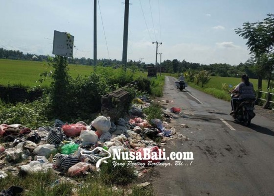 Nusabali.com - sampah-berserakan-di-jembatan-perbatasan-lelateng-baluk
