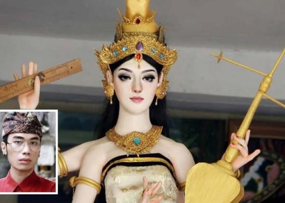 Nusabali.com - patung-dewi-saraswati-cantik-mirip-bule-viral-di-medsos