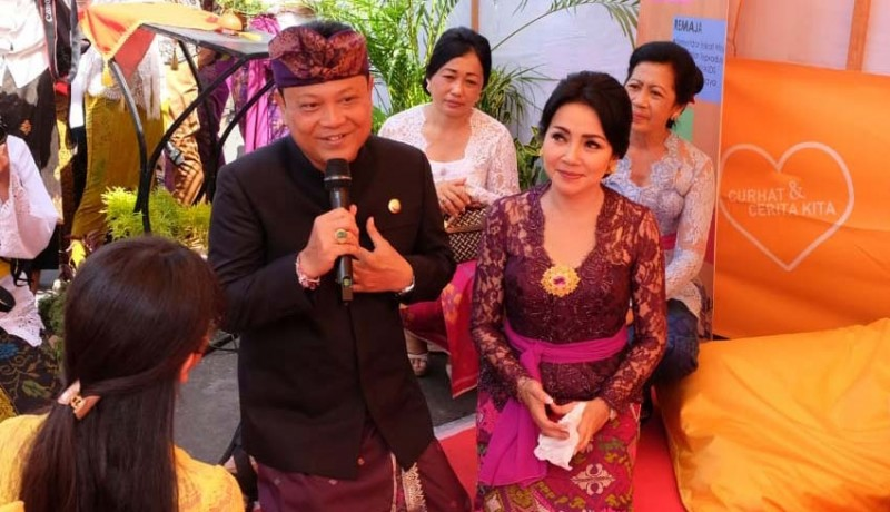 www.nusabali.com-wujudkan-masyarakat-bahagia-rai-mantra-launching-mobil-konseling-denpasar-ceria