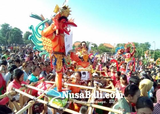 Nusabali.com - parade-ogoh-ogoh-paud-se-denpasar
