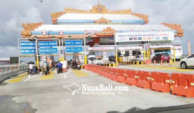 www.nusabali.com-tol-bali-mandara-tutup-32-jam-hilang-rp-05-m