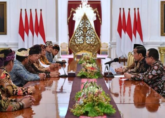 Nusabali.com - laporkan-rangkaian-kegiatan-nyepi-phdi-pusat-bertemu-jokowi-di-istana