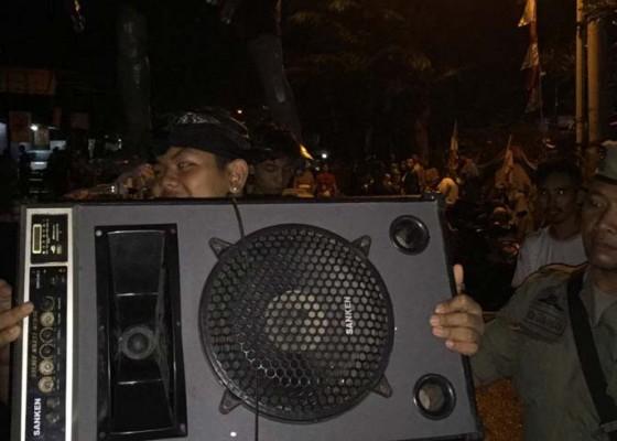Nusabali.com - satpol-pp-tindak-ogoh-ogoh-yang-pakai-soundsystem
