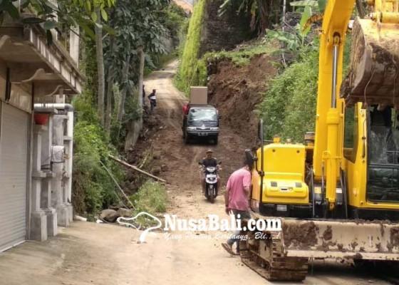 Nusabali.com - akses-jalan-sudaji-sawan-sudah-normal
