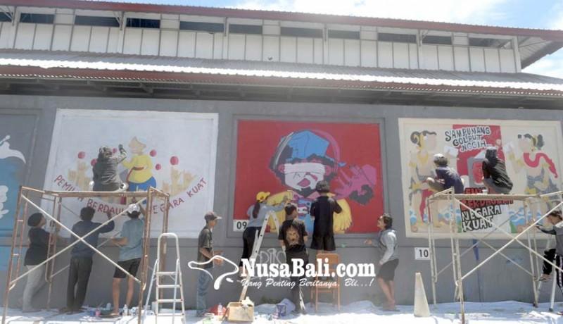 www.nusabali.com-lomba-mural-ajak-masyarakat-datang-ke-tps-pada-17-april